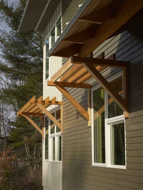 modern awnings for home wood window awnings exterior contemporary with douglas fir