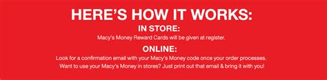Redeem Macy S Gift Card Online - macy s money get 10 for every 50 spent earn redeem