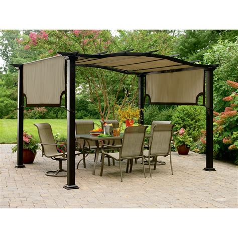 garden treasures pergola replacement canopy garden oasis replacement canopy for pergola shop your