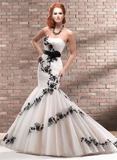wedding dresses in black and white 30 black and white wedding dresses combination fashion