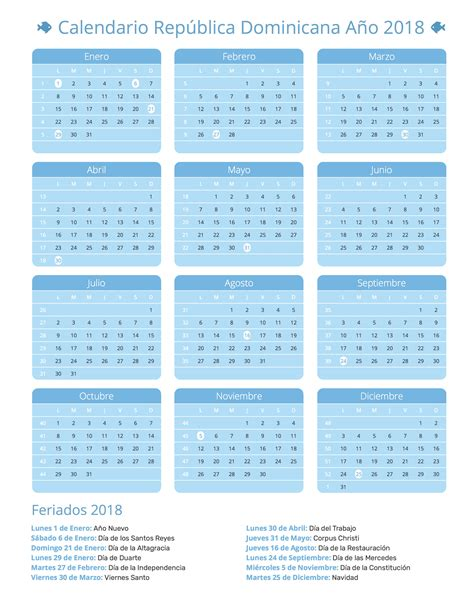 Republic Calendrier 2018 Dominica Calendario 2018 28 Images Calendario 2018