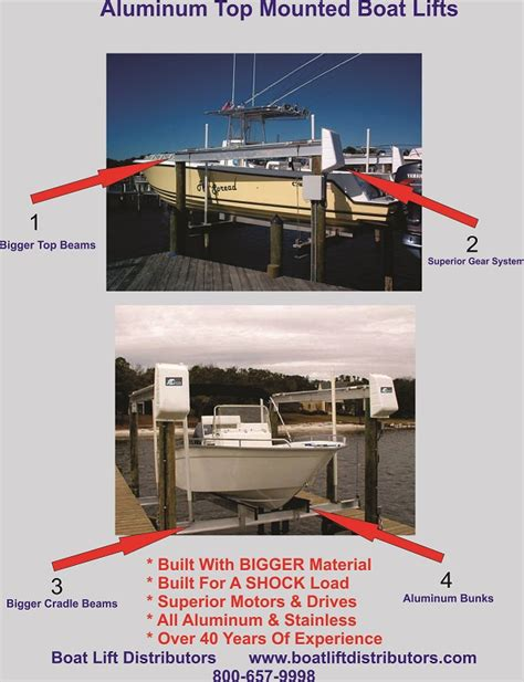 aluminum fishing boat lift aluminum top mount lifts july deals the hull truth