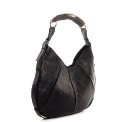 Celines Bittersweet Large Hobo As Seen On Betty by Yves Laurent Leather Horn Handle Mombasa Bag Ysl