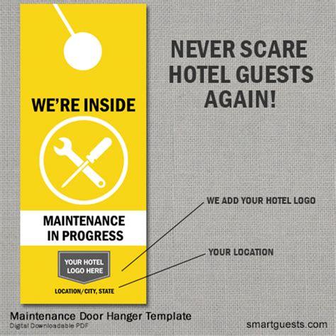 maintenance door hanger template door sign template quot quot sc quot 1 quot st quot quot mydoorsign