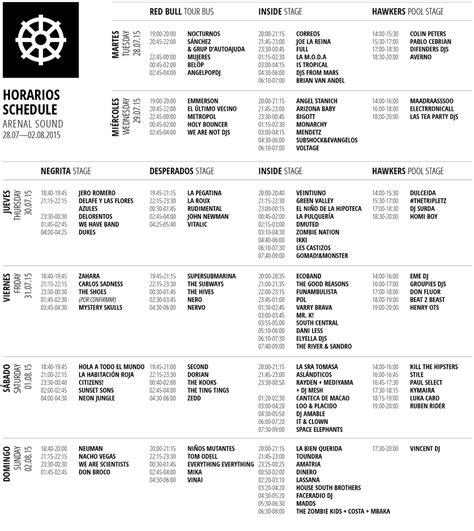 Calendario Arenal Sound 2015 Arenal Sound 2015 Abonos Cartel Horarios Epdlt