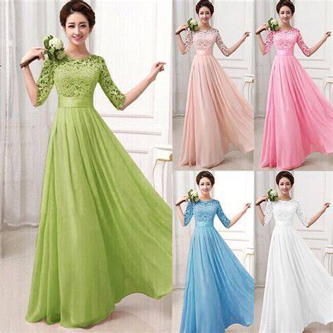 US Women Long Formal Prom Dress Cocktail Party Gown