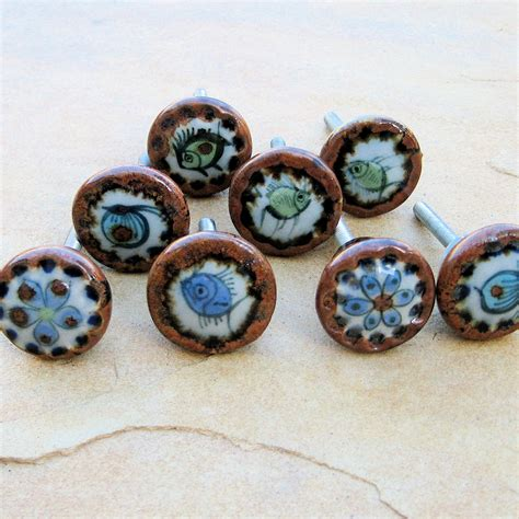 Mexican Knobs vintage mexican knobs pottery drawer pulls ken edwards tonala