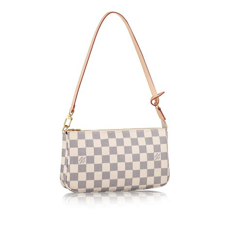 New Collection Luis Vuitton Clery Pochette pochette accessoires damier azur canvas handbags louis vuitton