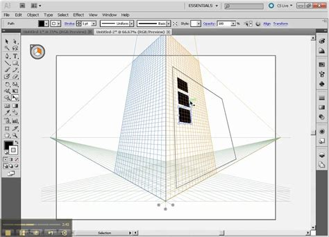 illustrator draw undo drawing 3d part4 more perspective grids in illustrator