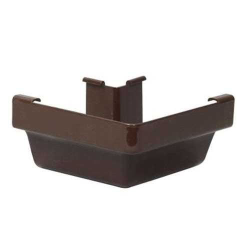 Vinyl Gutters Home Depot by Amerimax Home Products Brown Vinyl K Style Outside Mitre