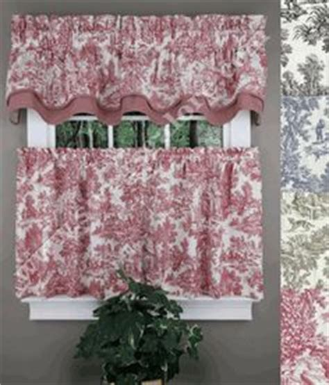 toile cafe curtains kitchen curtains on pinterest valances country kitchen