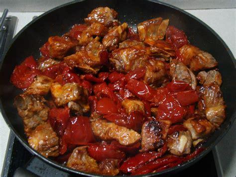cucina irpina costine di maiale con peperoni all aceto cucina irpinia