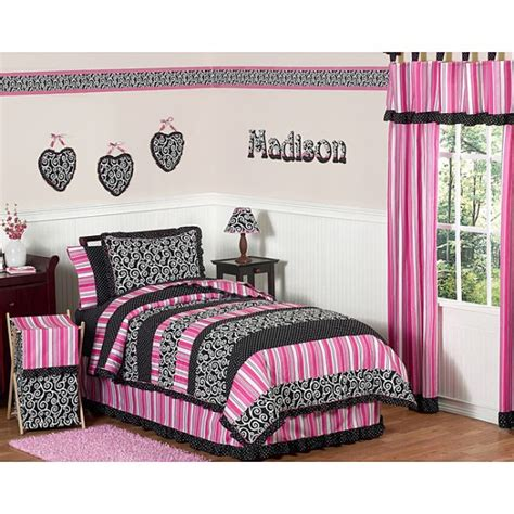 Pink And Black Rooms by Black And Pink Bedding