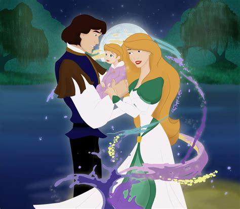 baby bip swan princess odette and derek from the swan princess with their baby