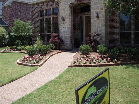 frisco front yard landscaping traditional landscape