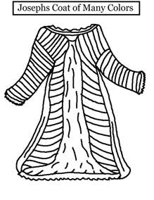 joseph and the coat of many colors joseph and his coat coloring page coloring pages