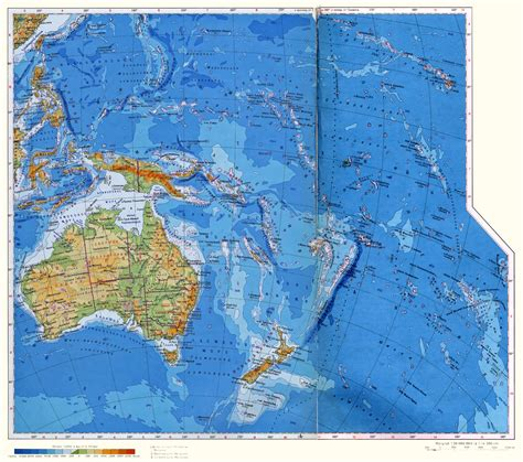 physical map of oceania large detailed physical map of australia and oceania in