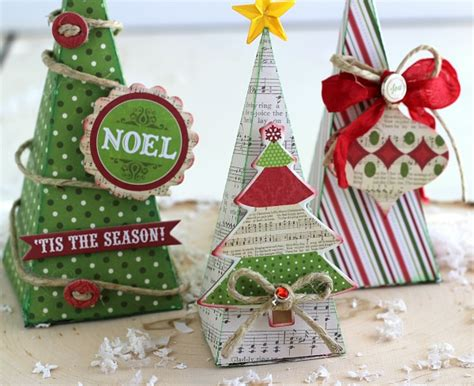3d paper christmas tree with ribbon 3d trees ribbons glue