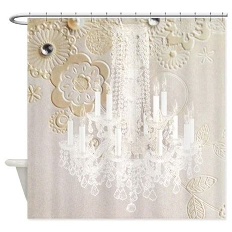 elegant shower curtains elegant chandelier floral paris shower curtain by listing