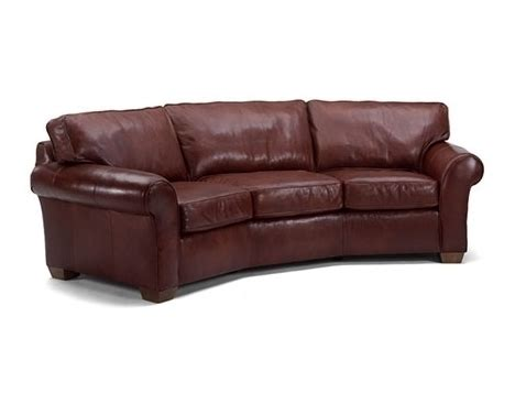 vail leather conversation sofa by flexsteel furniture