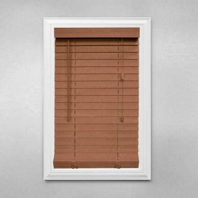 home decorators blinds home depot home decorators collection cut to width golden oak 2 in faux wood blind 37 5 in w x 64 in l