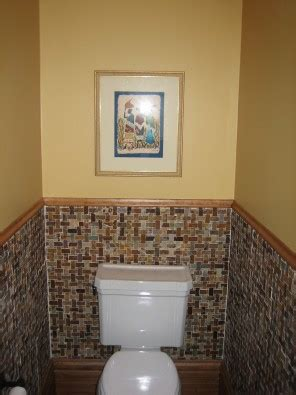 glass tile powder room chicago lincoln square porcelain tile featured in entryway and powder room glass tile
