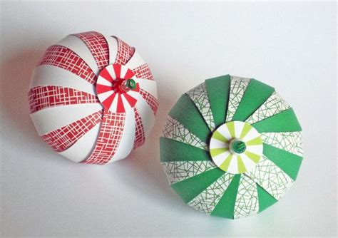 How To Make Ornaments Out Of Paper - 12 diy ornaments for a festive tree