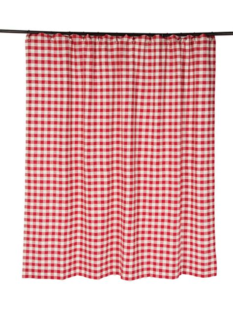 red and white buffalo check curtains buffalo check red shower curtain by nancy s nook for