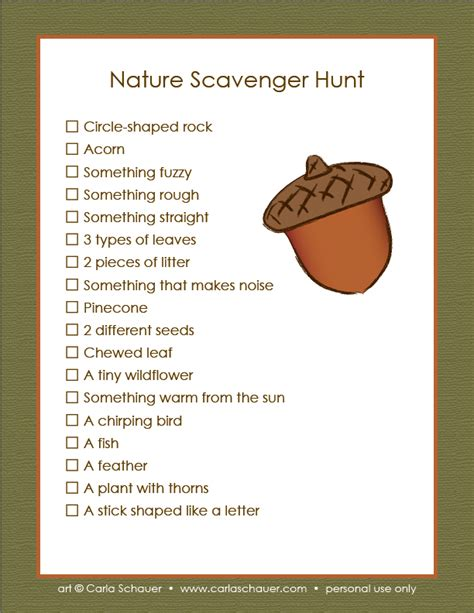 scavenger hunt checklist template bingo templates out of darkness