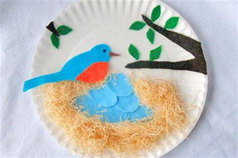 Arts And Crafts Paper Plates - robinage arts and crafts paper plate bluebird nest