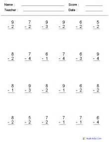 2nd grade subtraction math worksheets printable