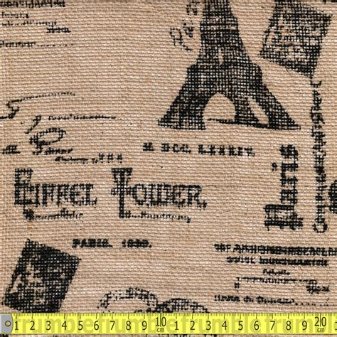 patterned hessian fabric printed hessian fabric paris geek by theme fabric