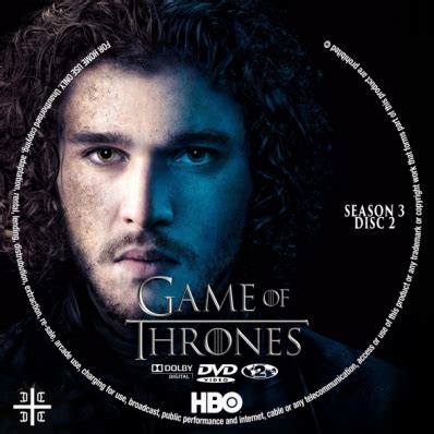 game of thrones season 3 disc 2 dvd covers amp labels