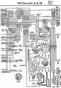 electrical wiring diagram of 1964 chevrolet 6 and v8 all about wiring diagrams