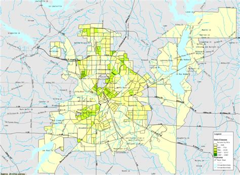 houston density map vickery meadow dallas