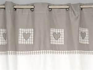 rideau blanc et gris 224 coeurs simla neuf ebay