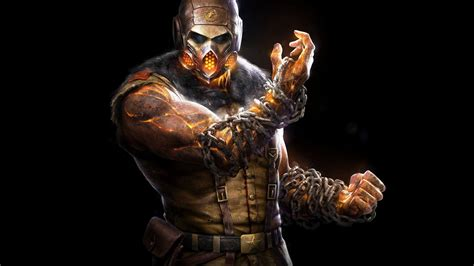 Chain For Samsung Note 2note 3note 4note 5 hd background mortal kombat x scorpion mask black