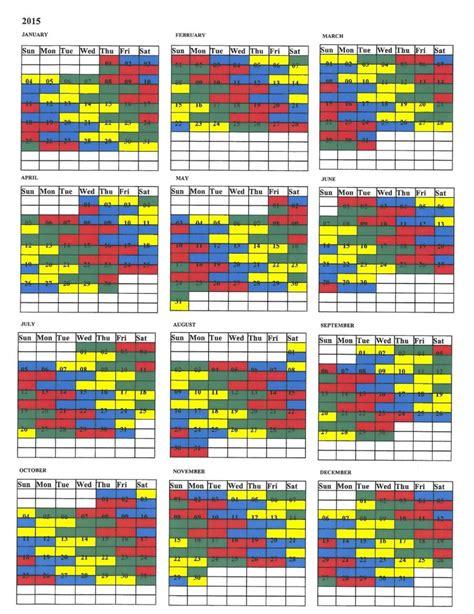 shift calendar template search results for 2016 firefighter shift calendar