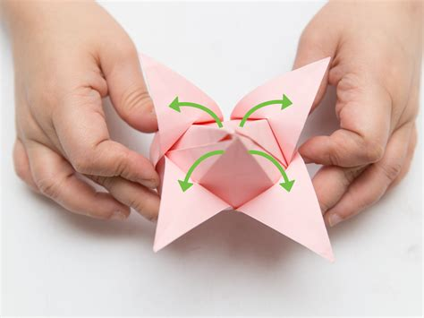 How To Fold A Of Paper Into A Brochure - how to fold paper flowers 10 steps with pictures wikihow