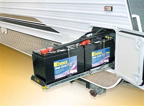 Battery Drawer by Rv Trade And Fleet Slide Out Dual Battery Tray Storage Accessories