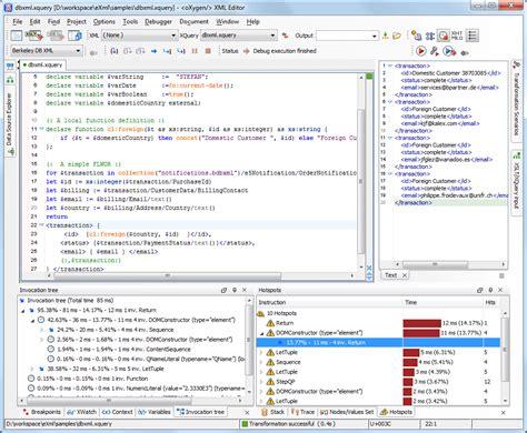 oracle xslt tutorial oracle berkeley db xml support oxygen xml editor