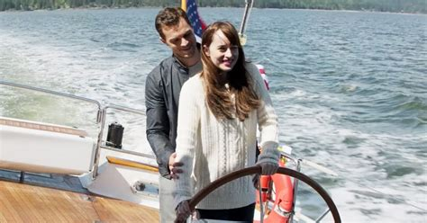 50 shades darker filming continues on luxury yacht as fifty shades darker trailer sets new record for most