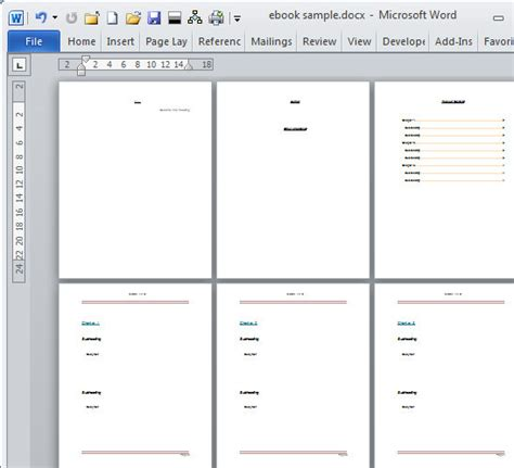 book template for microsoft word create an e book template in microsoft word