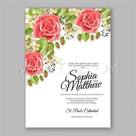 flower wedding invitation vector pink floral wedding invitation printable gold bridal shower invitation suite boho
