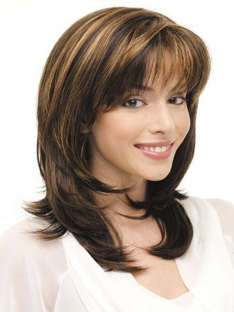 medium layered haircuts with bangs 2014