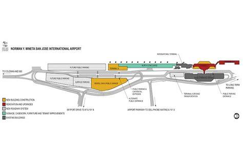 san jose terminal map terminal b at san jose airport lands leed silver after