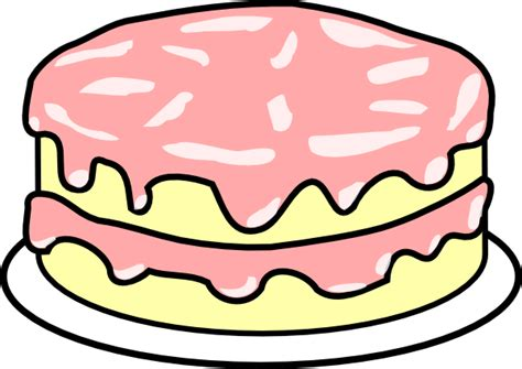 cake clipart cake pink icing clip at clker vector clip