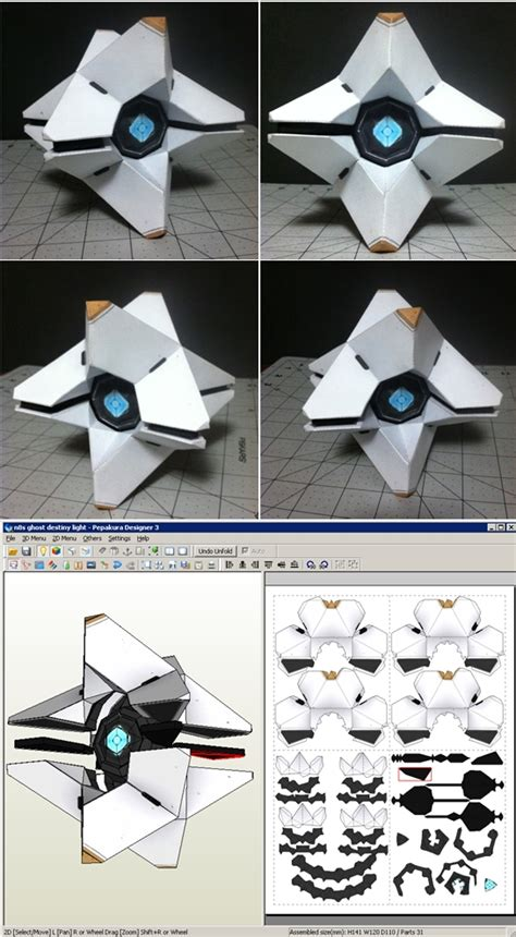 Ghost Papercraft - destiny ghost papercraft by n8s on deviantart
