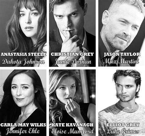 cast fifty shades of grey official some cast members my fifty shades of grey pinterest