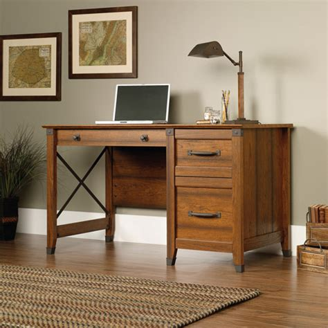 carson forge desk washington cherry sauder sauder carson forge desk washington cherry walmart com
